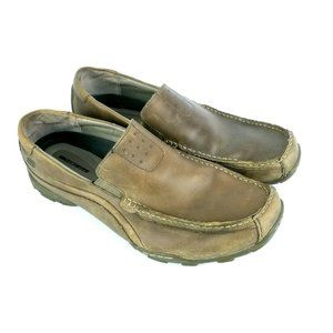 SKECHERS Slip On Leather Loafers Casual Moc Toe 61